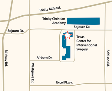 Driving Directions to the Texas Center for Interventional Surgery